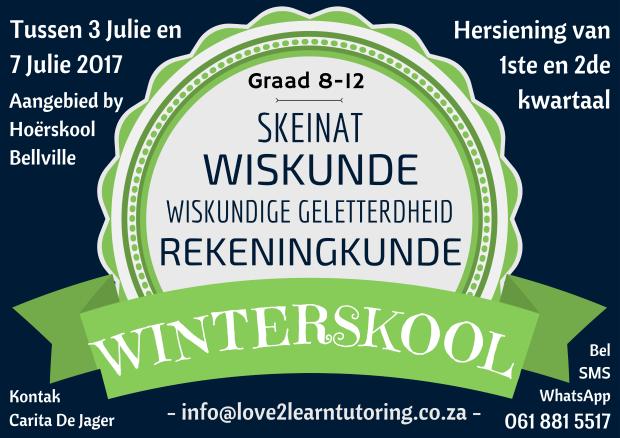 Winterskool advertensie